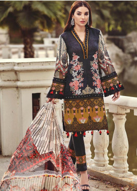 Nisa by Mohagni Embroidered Lawn Unstitched 3 Piece Suit MO20N MDE-05 - Festive Collection