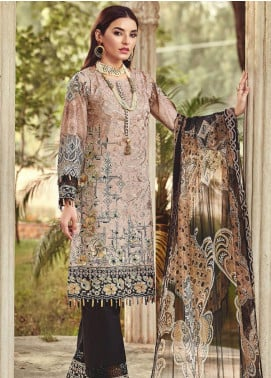 Nisa by Mohagni Embroidered Lawn Unstitched 3 Piece Suit MO20N MDE-07 - Festive Collection