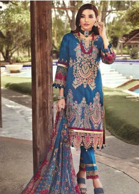 Nisa by Mohagni Embroidered Lawn Unstitched 3 Piece Suit MO20N MDE-08 - Festive Collection