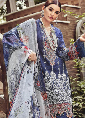 Nisa by Mohagni Embroidered Lawn Unstitched 3 Piece Suit MO20N MDE-09 - Festive Collection