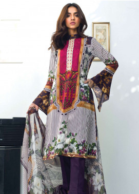 Nisha Bawany by Regalia Textiles Embroidered Lawn Unstitched 3 Piece Suit NB19L 1A - Spring / Summer Collection