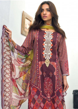 Nisha Bawany by Regalia Textiles Embroidered Lawn Unstitched 3 Piece Suit NB19L 3A - Spring / Summer Collection