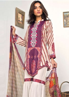Nisha Bawany by Regalia Textiles Embroidered Lawn Unstitched 3 Piece Suit NB19L 3B - Spring / Summer Collection