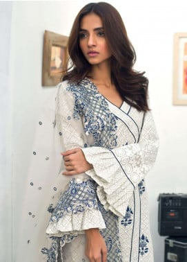 Nisha Bawany by Regalia Textiles Embroidered Lawn Unstitched 3 Piece Suit NB19L 4A - Spring / Summer Collection