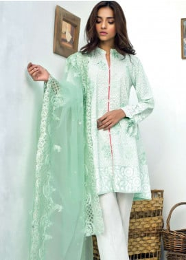 Nisha Bawany by Regalia Textiles Embroidered Lawn Unstitched 3 Piece Suit NB19L 4B - Spring / Summer Collection