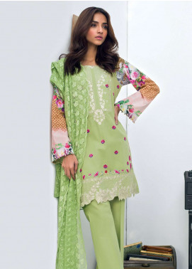 Nisha Bawany by Regalia Textiles Embroidered Lawn Unstitched 3 Piece Suit NB19L 5 - Spring / Summer Collection