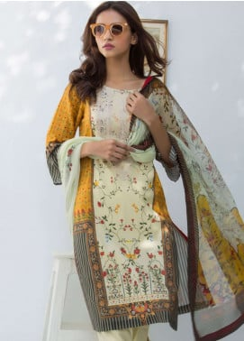 Nisha Bawany by Regalia Textiles Embroidered Lawn Unstitched 3 Piece Suit NB19L 8 - Spring / Summer Collection