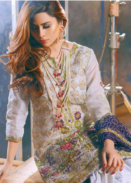 Noorma Kamal Embroidered Chiffon Unstitched 3 Piece Suit NK18C 02 - Formal Collection