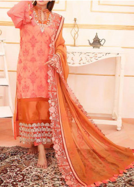Noor-e-Fizzata by Rub Nawaz Embroidered Chiffon Unstitched 3 Piece Suit RN20NF F001 - Luxury Collection