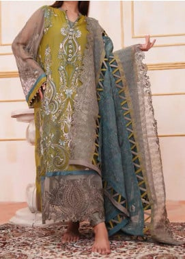 Noor-e-Fizzata by Rub Nawaz Embroidered Chiffon Unstitched 3 Piece Suit RN20NF F003 - Luxury Collection