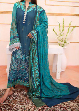 Noor-e-Fizzata by Rub Nawaz Embroidered Chiffon Unstitched 3 Piece Suit RN20NF F005 - Luxury Collection