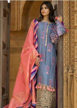 Noor-e-Fizzata Embroidered Viscose Unstitched 3 Piece Suit NF19V 2 - Winter Formal Collection