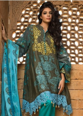 Noor-e-Fizzata Embroidered Viscose Unstitched 3 Piece Suit NF19V 3 - Winter Formal Collection