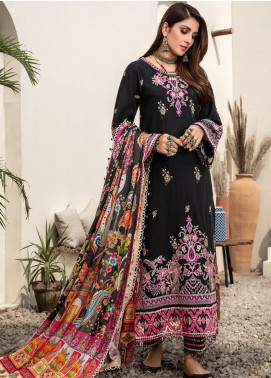 Noor by Saadia Asad Embroidered Khaddar Unstitched 3 Piece Suit SA20NW 08 Midnight - Winter Collection