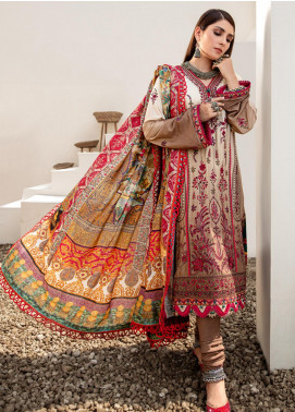 Noor by Saadia Asad Embroidered Khaddar Unstitched 3 Piece Suit SA20NW 10 Walnut - Winter Collection