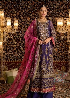 Noor by Saadia Asad Embroidered Chiffon Unstitched 3 Piece Suit NO19WE 5 - Wedding Collection