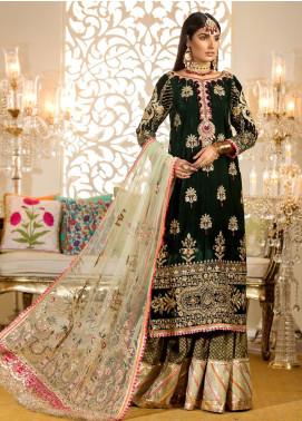 Noor by Saadia Asad Embroidered Velvet Unstitched 3 Piece Suit NO19WE 6 - Wedding Collection