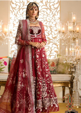 Noor by Saadia Asad Embroidered Net Unstitched 3 Piece Suit NO19WE 7 - Wedding Collection
