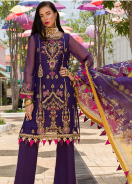Saadia Asad Embroidered Pure Organza Unstitched 3 Piece Suit NSA19F 02 - Festive Collection