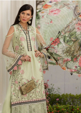 Saadia Asad Embroidered Woven Jacquard Cotton Net Unstitched 3 Piece Suit NSA19F 03 - Festive Collection
