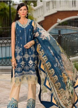 Saadia Asad Embroidered Lawn Unstitched 3 Piece Suit NSA19F 07 - Festive Collection