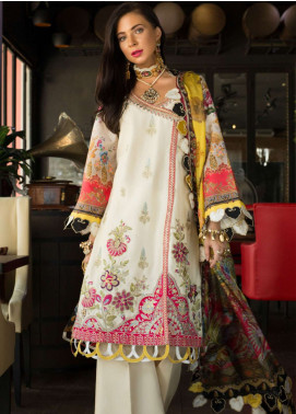 Saadia Asad Embroidered Cotton Net Unstitched 3 Piece Suit NSA19F 09 - Festive Collection