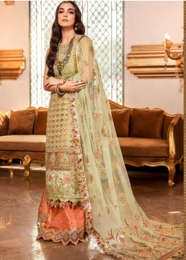 NOOR by Saadia Asad Embroidered Organza Unstitched 3 Piece Suit SA20F 1 Irini - Festive Collection