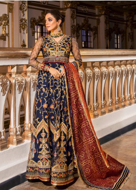 NOOR by Saadia Asad Embroidered Net Unstitched 3 Piece Suit SA20F 2 Relia - Festive Collection