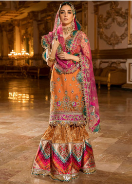 NOOR by Saadia Asad Embroidered Organza Unstitched 3 Piece Suit SA20F 3 Sorina - Festive Collection