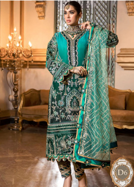 NOOR by Saadia Asad Embroidered Organza Unstitched 3 Piece Suit SA20F 6 Viviana - Festive Collection