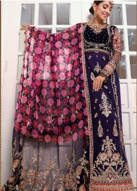NOOR by Saadia Asad Embroidered Velvet Unstitched 3 Piece Suit SA20F 8 Ivora - Festive Collection