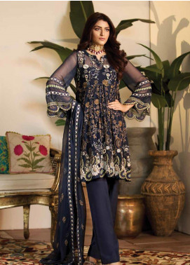Noor Jahan Embroidered Chiffon Unstitched 3 Piece Suit NJ19W 05 - Wedding Collection