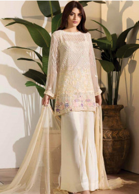 Noor Jahan Embroidered Chiffon Unstitched 3 Piece Suit NJ19W 09 - Wedding Collection