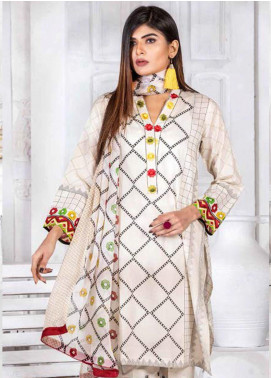Noor Jahan Embroidered Lawn Unstitched 3 Piece Suit NJ20P 12 - Spring / Summer Collection