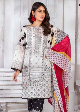 Noor Jahan Embroidered Lawn Unstitched 3 Piece Suit NJ20P 13 - Spring / Summer Collection