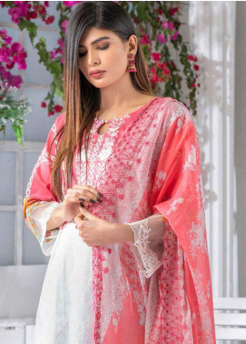 Noor Jahan Embroidered Lawn Unstitched 3 Piece Suit NJ20P 14 - Spring / Summer Collection