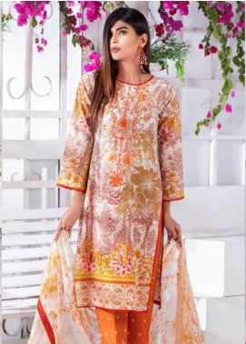 Noor Jahan Embroidered Lawn Unstitched 3 Piece Suit NJ20P 16 - Spring / Summer Collection