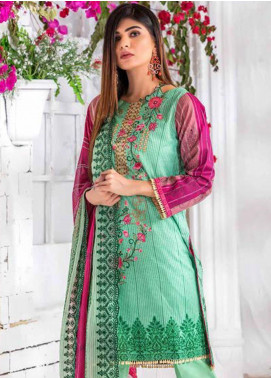 Noor Jahan Embroidered Lawn Unstitched 3 Piece Suit NJ20P 18 - Spring / Summer Collection