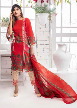 Noor Jahan Embroidered Lawn Unstitched 3 Piece Suit NJ20P 2 - Spring / Summer Collection