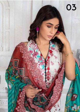 Noor Jahan Embroidered Lawn Unstitched 3 Piece Suit NJ20P 3 - Spring / Summer Collection