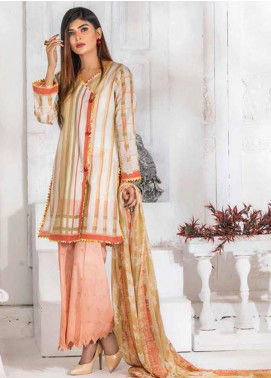 Noor Jahan Embroidered Lawn Unstitched 3 Piece Suit NJ20P 4 - Spring / Summer Collection