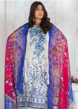 Noor Jahan Embroidered Lawn Unstitched 3 Piece Suit NJ20P 5 - Spring / Summer Collection