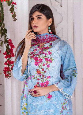 Noor Jahan Embroidered Lawn Unstitched 3 Piece Suit NJ20P 8 - Spring / Summer Collection