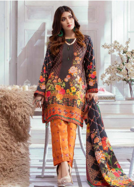 Noor Jahan Embroidered Karandi Unstitched 3 Piece Suit NJ19WK 1 - Winter Collection