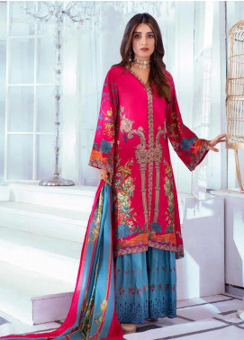 Noor Jahan Embroidered Karandi Unstitched 3 Piece Suit NJ19WK 10 - Winter Collection