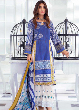 Noor Jahan Embroidered Karandi Unstitched 3 Piece Suit NJ19WK 11 - Winter Collection