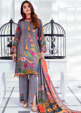 Noor Jahan Embroidered Karandi Unstitched 3 Piece Suit NJ19WK 12 - Winter Collection