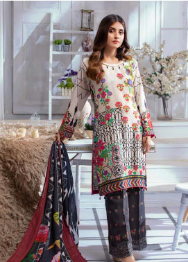Noor Jahan Embroidered Karandi Unstitched 3 Piece Suit NJ19WK 2 - Winter Collection