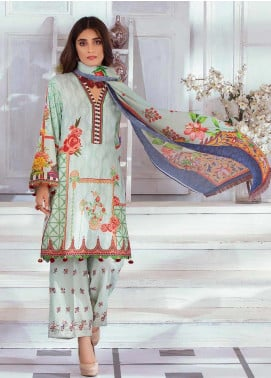 Noor Jahan Embroidered Karandi Unstitched 3 Piece Suit NJ19WK 3 - Winter Collection