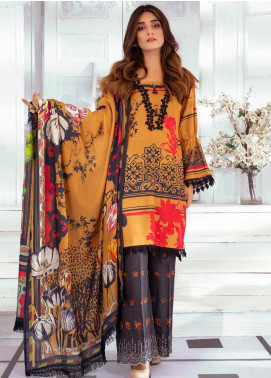 Noor Jahan Embroidered Karandi Unstitched 3 Piece Suit NJ19WK 4 - Winter Collection